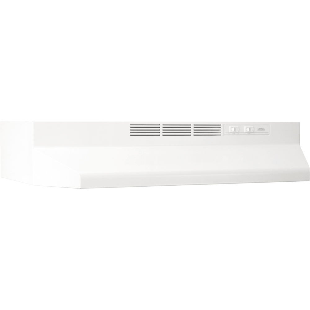 Broan  Monochromatic White 24-inch 2-speed Non-ducted Under-cabinet Range Hood (White)