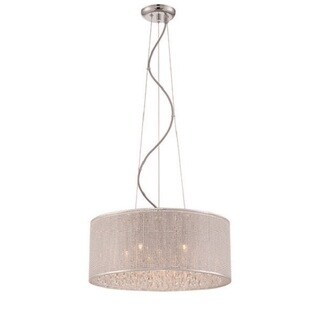 Decor Therapy Crystal 6-light Drum Pendant