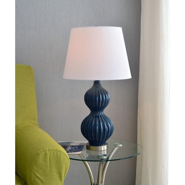 "Design Craft Hank 27.5"" Ceramic Table Lamp - Navy"