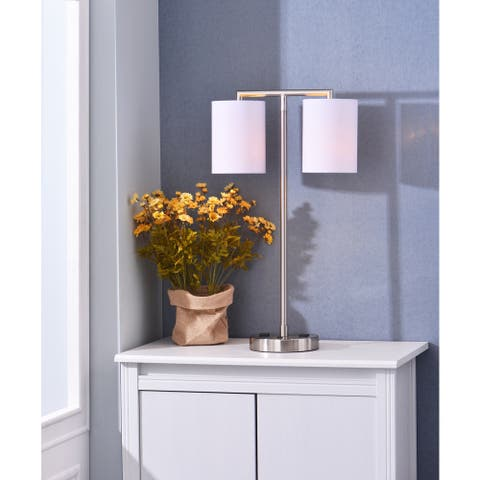 """Timid 27"""" Desk Lamp with Outlets"""