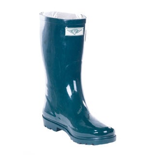 Link to Forever Young Women's Forest Green Rubber 11-inch Mid-calf Rain Boots Similar Items in Women's Shoes