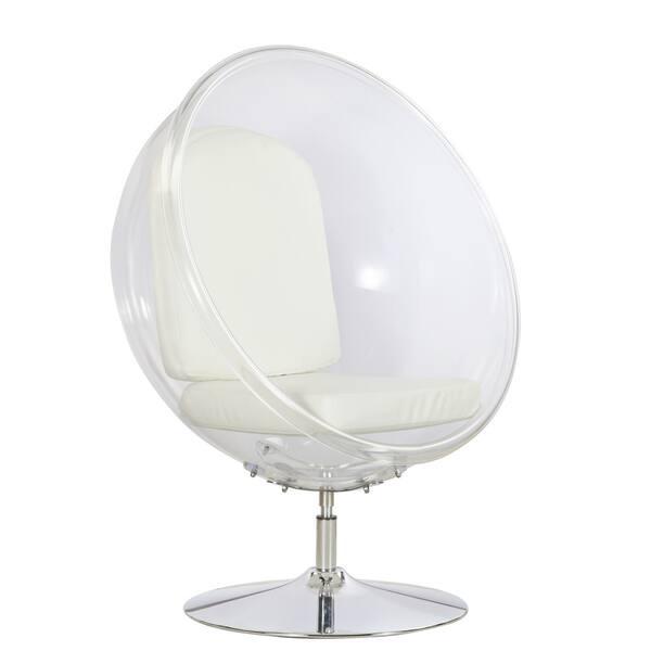 Wondrous Shop White Acrylic Ball Chair Free Shipping Today Inzonedesignstudio Interior Chair Design Inzonedesignstudiocom