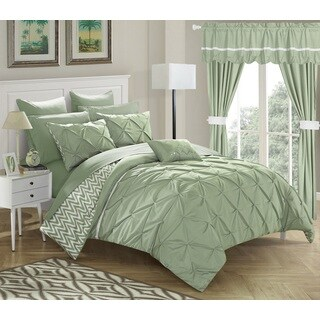 strick bolton josephine 20 piece green bed in a bag comforter set