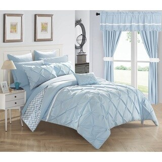Potterville Blue Microfiber 20-Piece Bed-In-A-Bag with Sheet Set