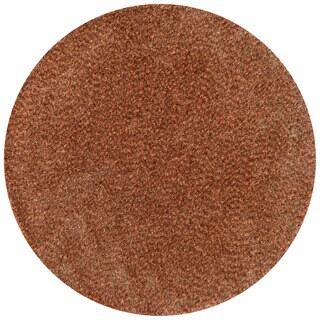 Hand-tufted London Textured Round Shag Rug (7'10 X 7'10 Round)