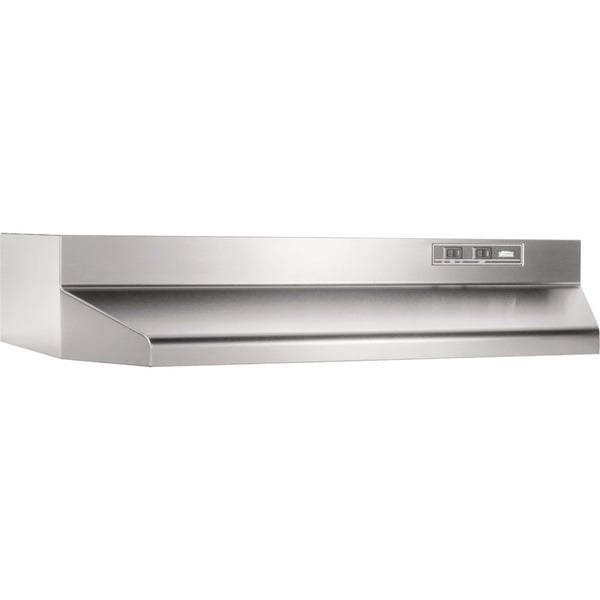 shop broan stainless steel 30 inch 2 speed ducted under cabinet range hood free shipping today. Black Bedroom Furniture Sets. Home Design Ideas