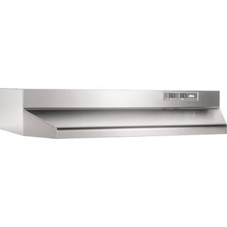 Broan Stainless Steel 30 Inch 2 Speed Ducted Under Cabinet Range Hood