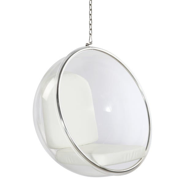 Etonnant White Acrylic Bubble Hanging Chair