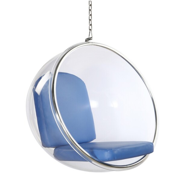 Blue Acrylic Bubble Hanging Chair