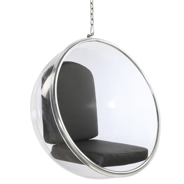 Acrylic hanging chair Bubble Glass Black Acrylic Bubble Hanging Chair Pinterest Shop Black Acrylic Bubble Hanging Chair Free Shipping Today