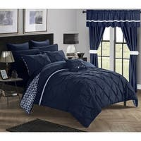 Clay Alder Home Red Cliff Navy 20-piece Bed in a Bag with Curtains Set