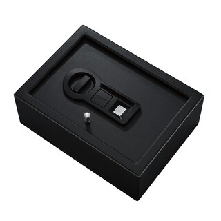 Stack-On Black Biometric Lock Drawer Safe