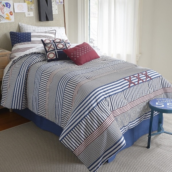 Frank and Lulu Cotton Rich Stripes Yo Comforter Set with Shams