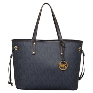 Michael Kors Medium Jet Set Baltic Blue Reversible Tote Bag