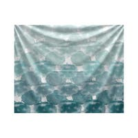 E by Design Beach Clouds Geometric Print Tapestry