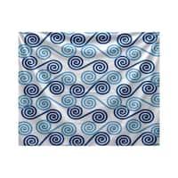 E by Design Rip Curl Geometric Print Tapestry