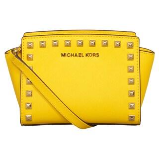 Michael Kors Selma Sunflower Stud Mini Crossbody Handbag