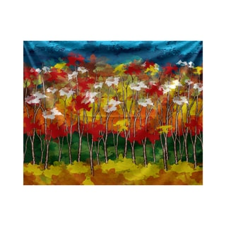 E by Design Autumn Floral Print Tapestry
