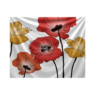 E by Design Poppies Floral Print Tapestry