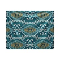 E by Design Illuminate Geometric Print Tapestry