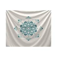E by Design Snowflake Star Geometric Print Tapestry