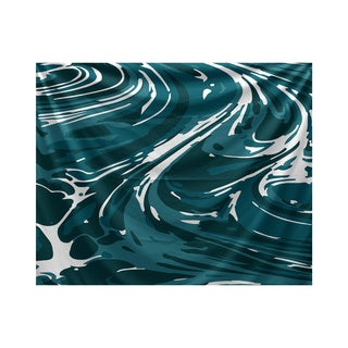E by Design Marble Geometric Print Tapestry