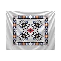 E by Design Jodhpur Border 4 Geometric Print Tapestry