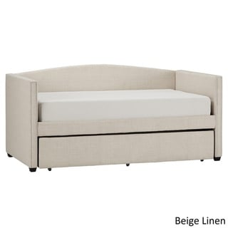 INSPIRE Q Deco Linen Shelter Arm Daybed and Trundle