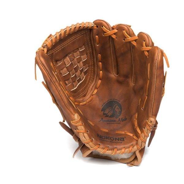 Nokona WB-1300C/L Brown Walnut Crunch Steerhide Leather Closed Web 13-inch Right-hand Throw Baseball/Softball Glove
