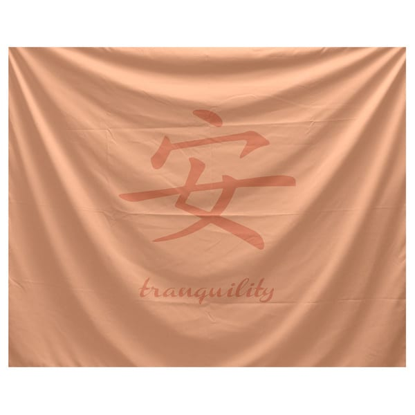 E by Design Tranquility Word Print Tapestry