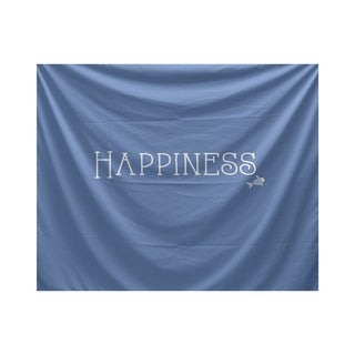 E by Design Coastal Happiness Word Print Tapestry