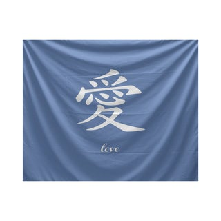 E by Design Love Word Print Tapestry