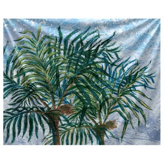 E by Design Palms Floral Print Tapestry