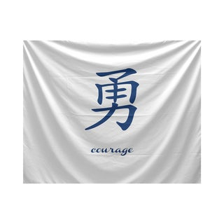 E by Design Courage Word Print Tapestry