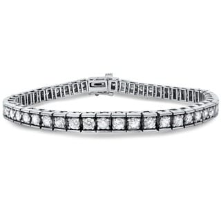 Noori 14k White Gold 5ct TDW Round Diamond Tennis Bracelet (H-I, SI1-SI2)