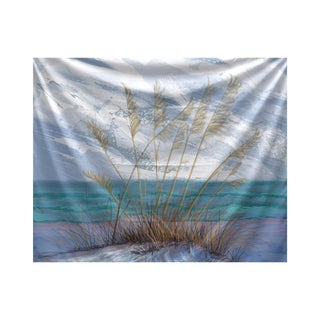 E by Design Happy Place Floral Print Tapestry