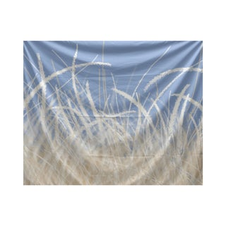 E by Design Sea Grass 1 Floral Print Tapestry
