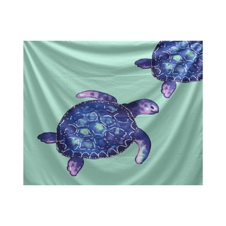 E by Design Turtle Tales Animal Print Tapestry