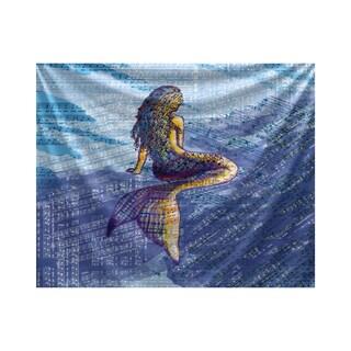 E by Design Mermaid Geometric Print Tapestry