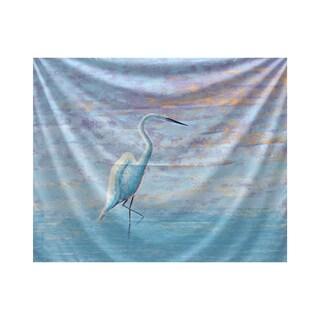 E by Design Egret Animal Print Tapestry