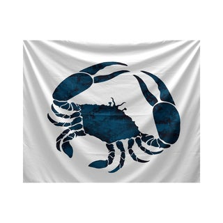 Multicolored Polyester Crab Animal-print Tapestry