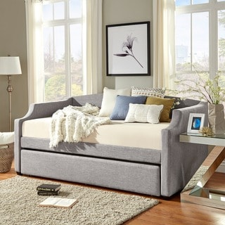 INSPIRE Q Deco Linen Slope Arm Daybed and Trundle
