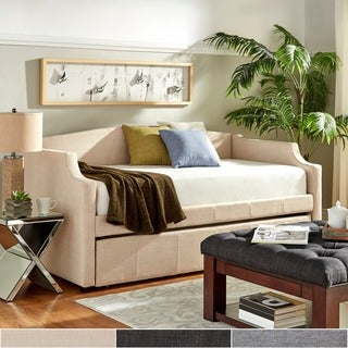 deco linen slope arm daybed and trundle by inspire q bold