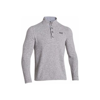 Under Armour Men's Specialist Storm True Grey Heather/Black Fleece Sweater
