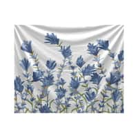 E by Design Spring Blooms Floral Print Tapestry