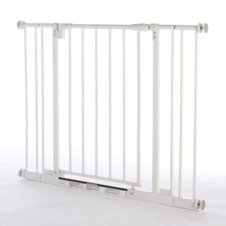 North States White Steel Easy Close Pet Gate