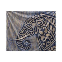E by Design Inky Animal Animal Print Tapestry