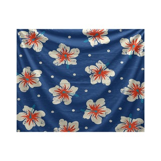 E by Design Hibiscus Blooms Floral Print Tapestry