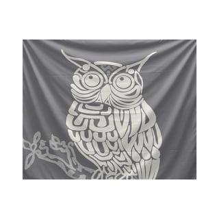 E by Design Hootie Animal Animal Print Tapestry