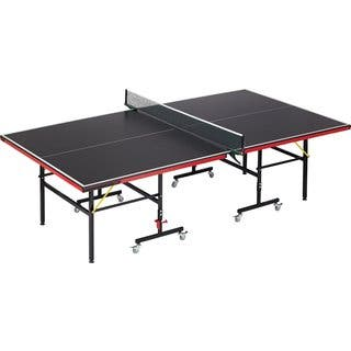 Viper Arlington 70-0105 Black/Grey Artificial Slate and Wood Indoor Table Tennis Table with Net and Post Set|https://ak1.ostkcdn.com/images/products/12838145/P19603611.jpg?impolicy=medium